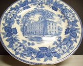 Vintage Upper Iowa University Wedgwood Plate Collectibles Housewares Home Decor