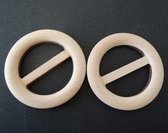 4 Pcs  55mm unfinished wood belt buckle (W541)