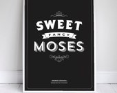 "Sweet Fancy Moses - Seinfeld Quote - Signfeld Poster - 11x17"" - Home Decor"