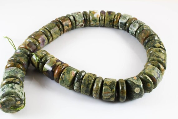 Rainforest Jasper Beads, C-217