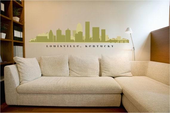 Louisville Kentucky Skyline Wall Decal Art Vinyl Removable