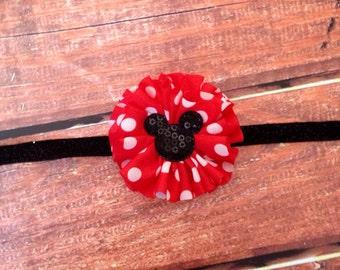 Minnie Mouse Headband- Disney Inspired Headband, Mickey Mouse Headband, Disney Headband, Minnie Mouse Birthday Headband, Birthday Headband,