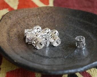 10 Silver Braids and Dreadlocks Cuffs