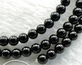 Black Onyx smooth Round beads 4mm,96 pcs