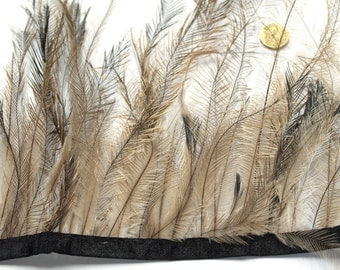 1 x Metre of Natural Emu Feather Trim by the metre #371