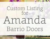 Custom Listing For Amanda - Tucson Barrio Doors - Two 12x18 Prints