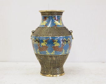 Gorgeous Antique Japanese Champlevé Vase