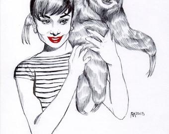 Audrey Hepburn's sloth