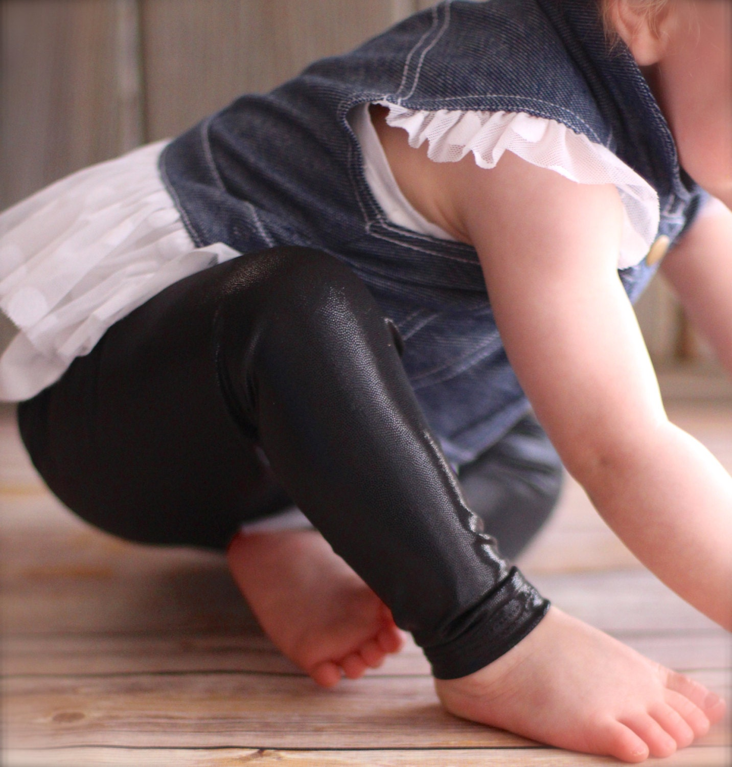 Leather Baby Leggings