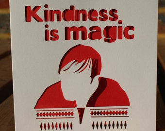 Kindness is magic Derek card