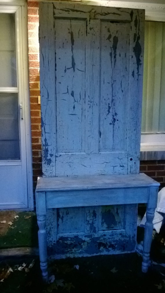 Upcycled Door As A Hall Tree Entry Table By