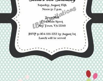 Custom Train Birthday Invitation