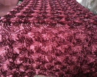 Satin Rosette Tablecloth.