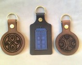 Dr. Who themed leather keychains