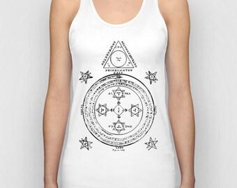 The Solomonic Magic Circle Women Tank Top / Women T-Shirt / Cool Quote Tees / Shirt For Women / Women's T Shirt