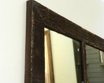 SALE  Antique barnwood window mirror 16x28 (6 Panes)