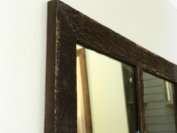 Sale antique barnwood window mirror 16x28 6 panes for Window mirrors for sale