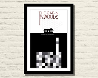 The Cabin In The Woods 11 X 17 Art Print, Poster, Minimalist, Home Decor