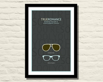 True Romance Movie Poster, Art Print, 11 X 17, Minimalist Poster, Home Decor