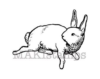 Running rabbit rubber stamp / Unmounted rubber stamp  (130712)