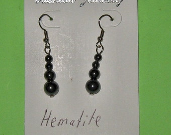 HEMATITE BEAD earrings