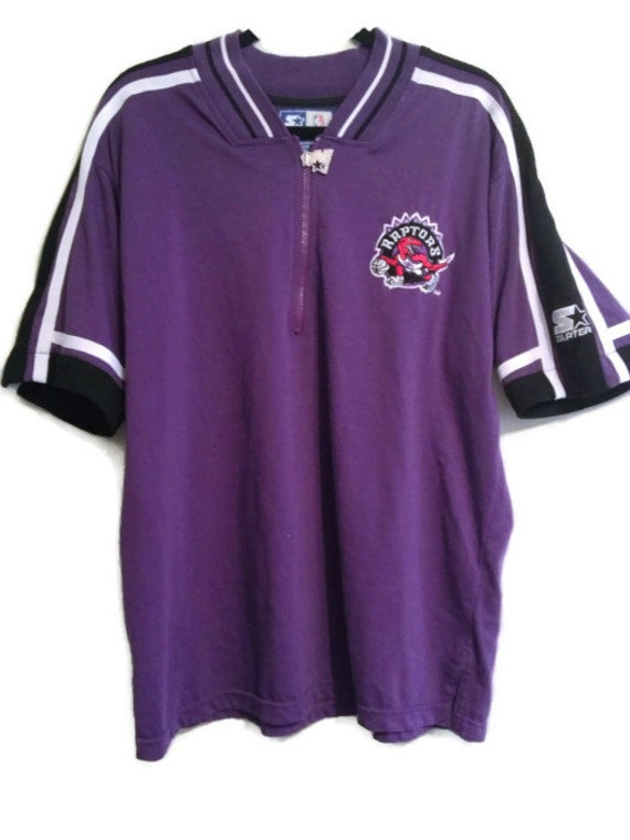 90 s toronto raptors starter shirt nba basketball zip