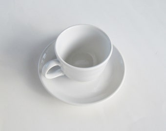 Fiestaware White Cup and Saucer