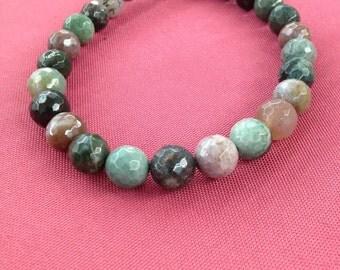 10mm Faceted Fancy Jasper Beads