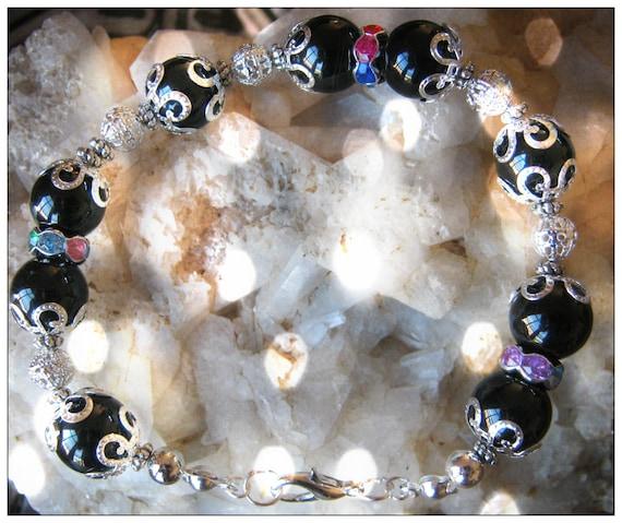 Beautiful Handmade Silver Bracelet with Black Onyx