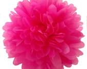 18 inch large Hot Pink pom pom,party poms,birthday pompoms,Firstbirthday,baby shower,hanging poms,nursery pom pom,pompoms,party decorations