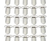 25pcs Pacifier Suspender Clips 1 Inch Great for making pacifier holders, bib clips, toy holder and many additional craft items