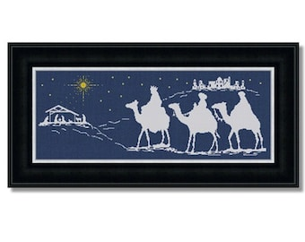 Counted Cross Stitch Pattern, Baby Jesus, Christmas Nativity Bethlehem, Chart, Silhouette, Easy Embroidery Design, PDF, DiY INSTANT DOWNLOAD