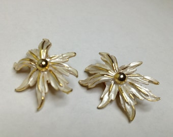 Enamel Flower Earrings, Floral Earrings, Wedding Earrings