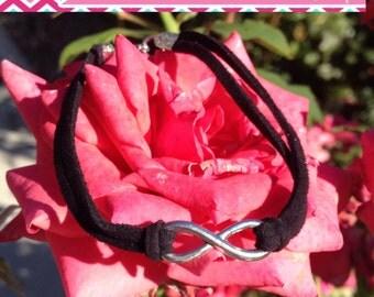 Infinity Bracelet - Black & Silver