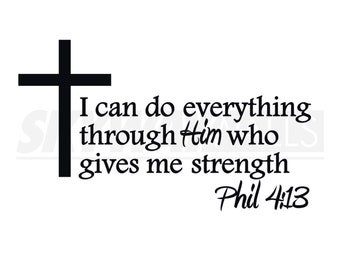 Philippians 4:13 Wall Decal