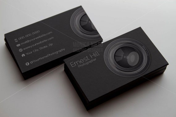 Printable photography business card template photographer business il570xn wajeb Images