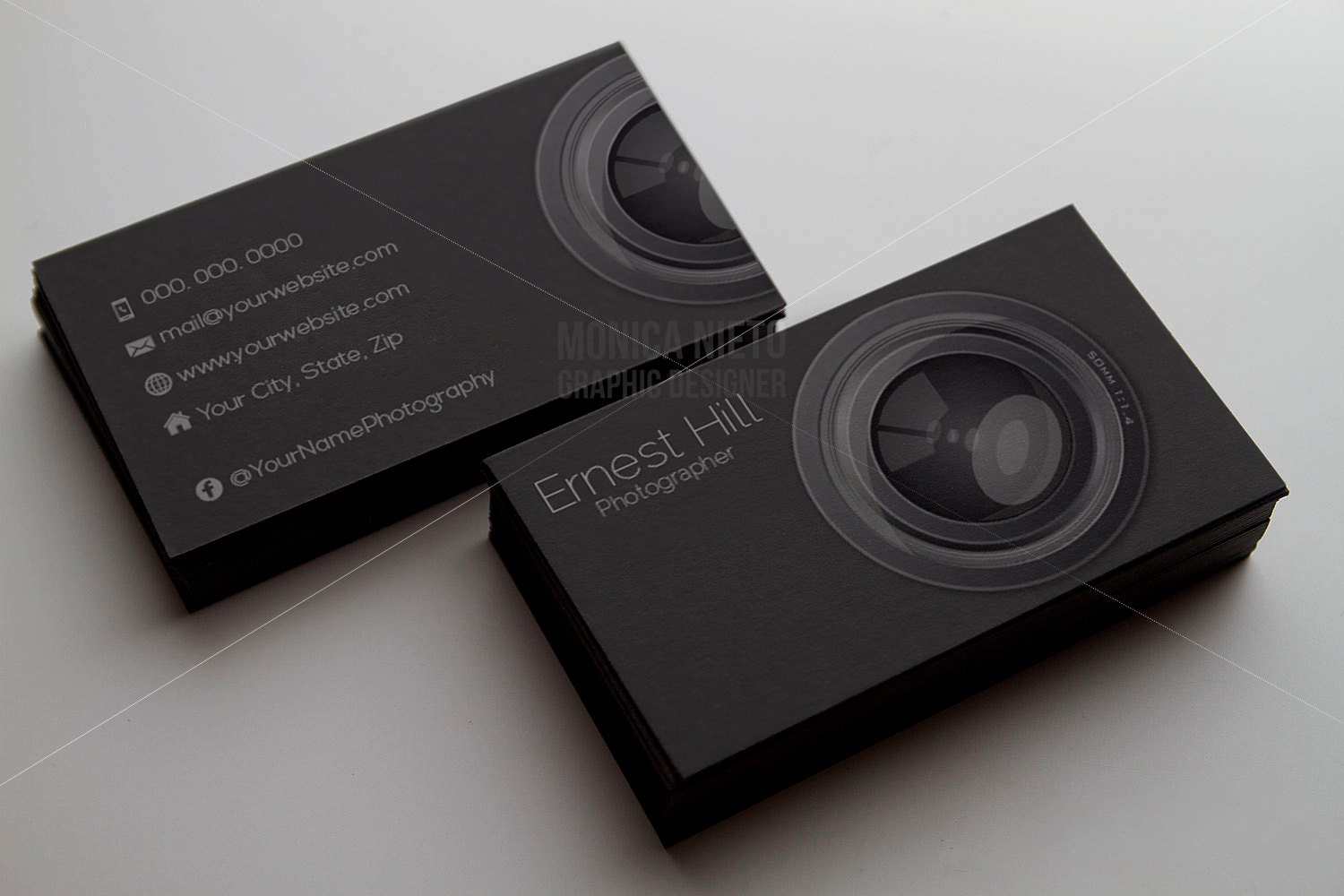 Printable photography business card template photographer for Best business cards for photographers