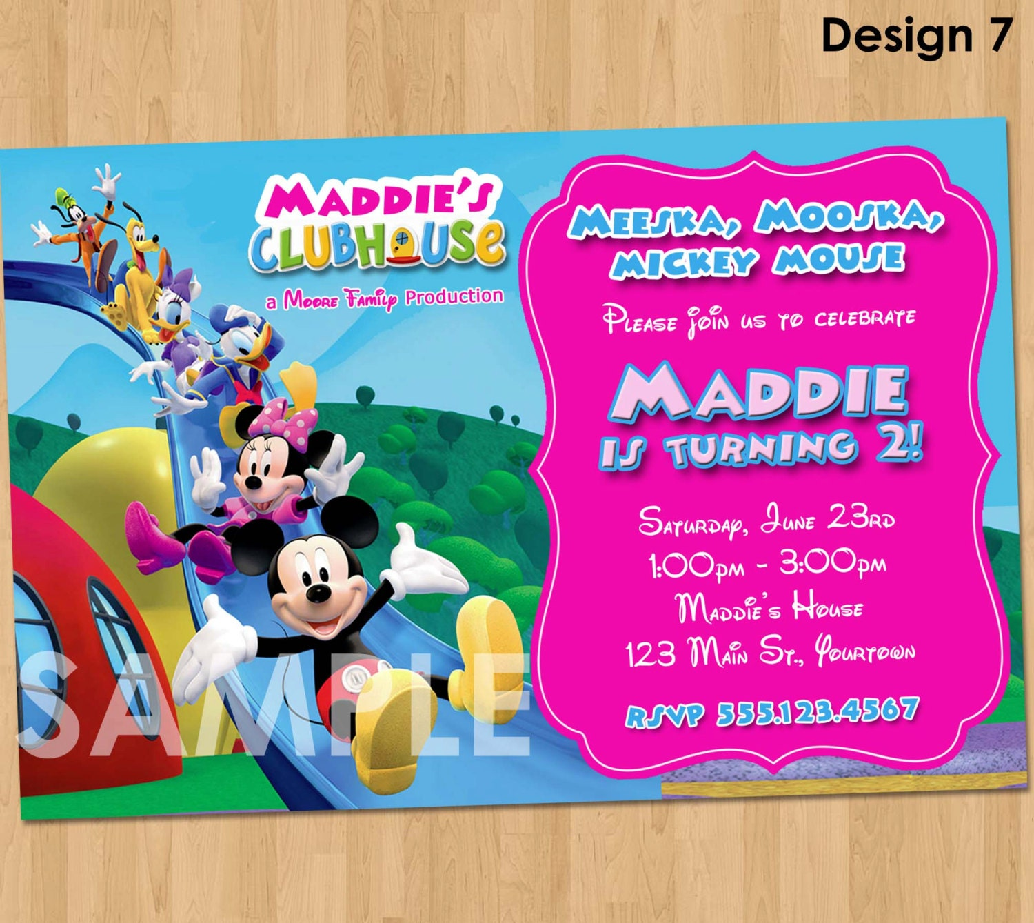 Mickey Mouse Clubhouse Minnie Invitation Printable Birthday