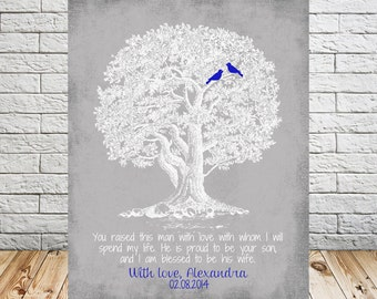 GROOMS PARENT Wedding Thank You Gift, Mother of the Groom, Father of the Groom, Wedding Gift, You Raised Quote