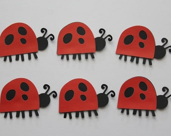 6 Ladybug Die Cut / Scrapbooking / Card Making / Decor / Party