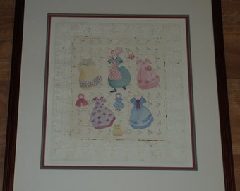 Limited Edition Hand Colored Paper Doll Etching by Brooke Morrison