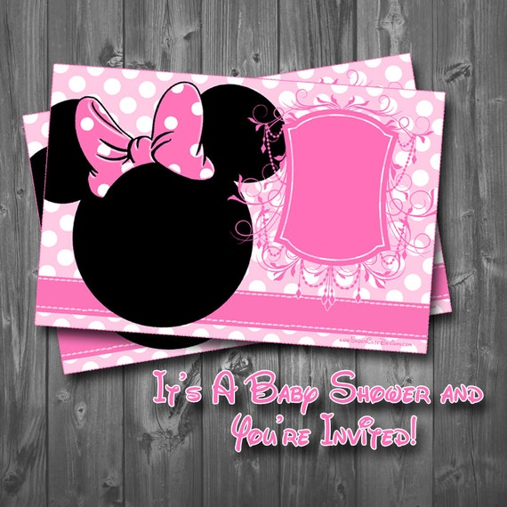 items similar to minnie mouse baby shower invitation on etsy