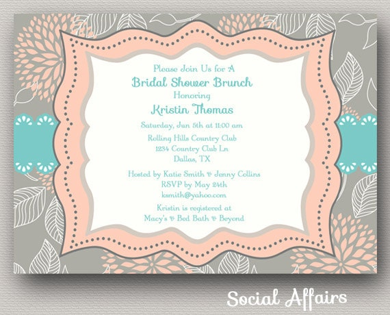 Brunch Invitation Template – Free Printable Wedding Shower Invitations Templates