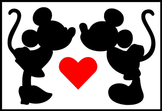 Mickey and Minnie kiss - Imagui