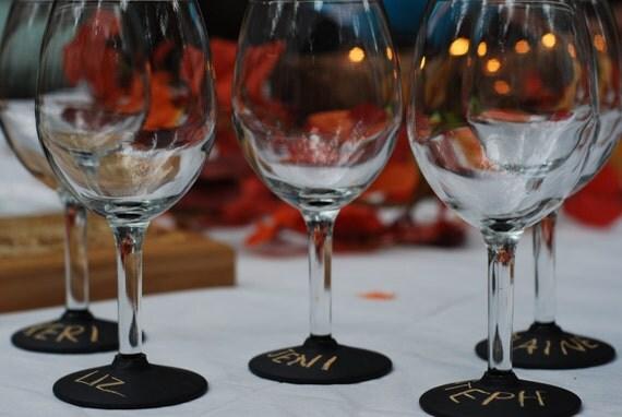 Chalk Dipped Wine Glasses