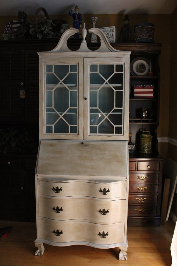 Items Similar To Sold Antique Painted Secretary On Etsy