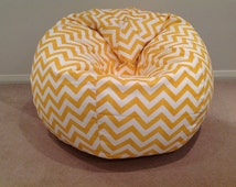 Bean Bag adults, teens, kids. Zig Zag Chevron Design Yellow, Black, Pink, Red, Teal, Purple, Green, Duck Egg Blue, Orange