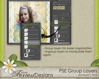 PSE Layer Groups - Photoshop Elements Script for PSE6 and later