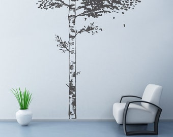 Realistic Birch Tree Wall Decal Wall Stickers for Bedrooms Stick on wall Art by DecalIsland - Realistic Birch Tree Wall Decal SD 028