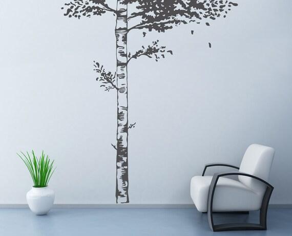Realistico birch tree muro adesivi murali di di decaiisland